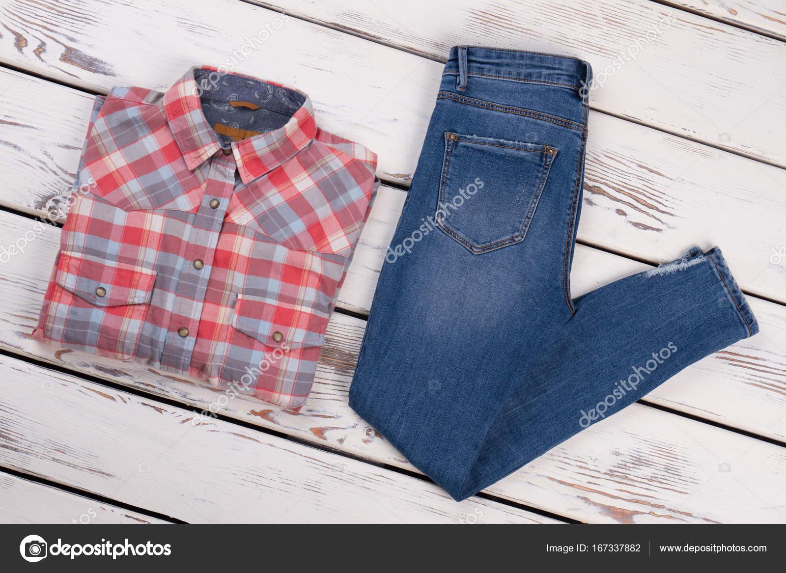 Fotos Camisas Vaqueras Camisa A Cuadros Y Pantalones