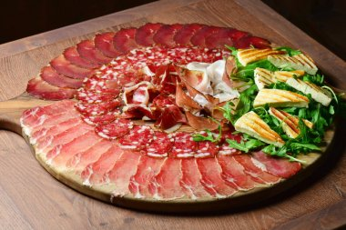 Arrangement of Delicatessen Cold Cuts with Smoked Ham