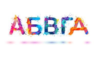Cyrillic alphabet. Russian letters. Part 1