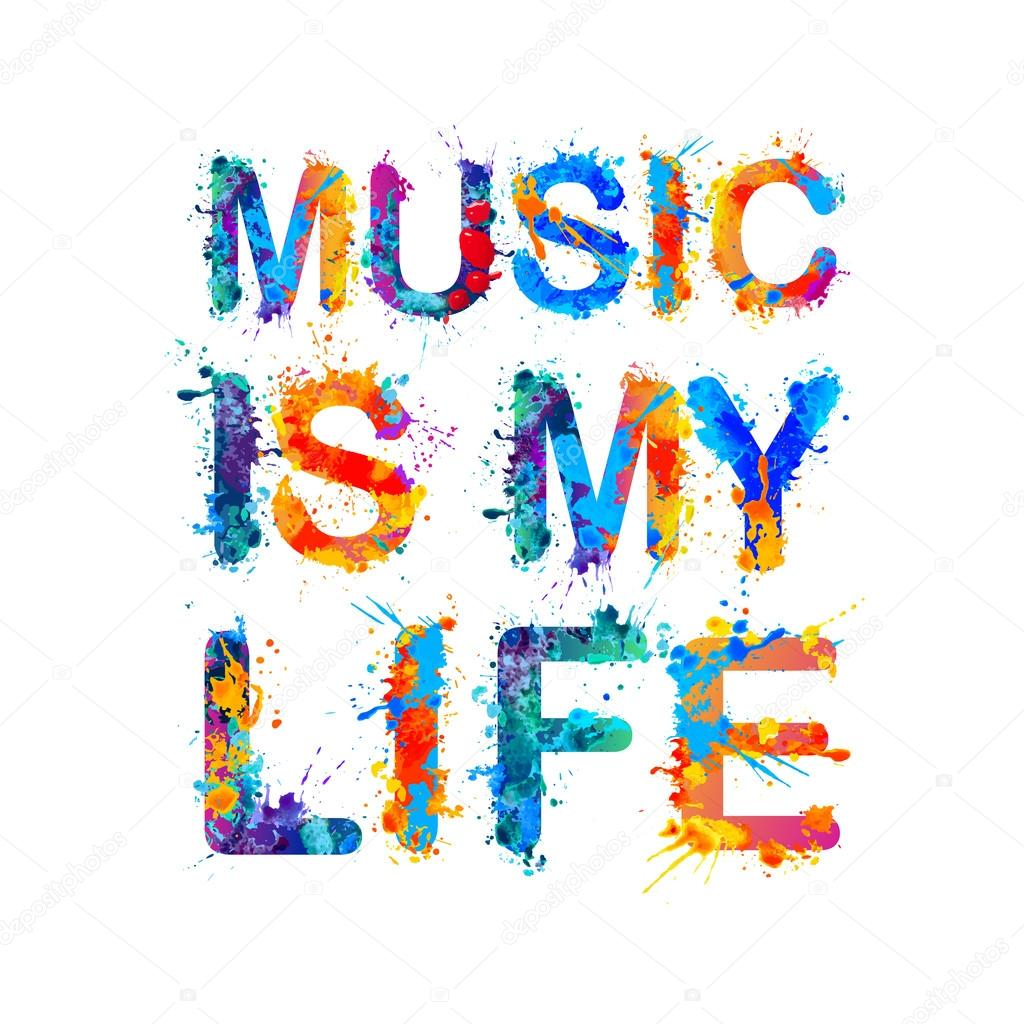 Music Is My Life Stock Vector Ukususha 128338640