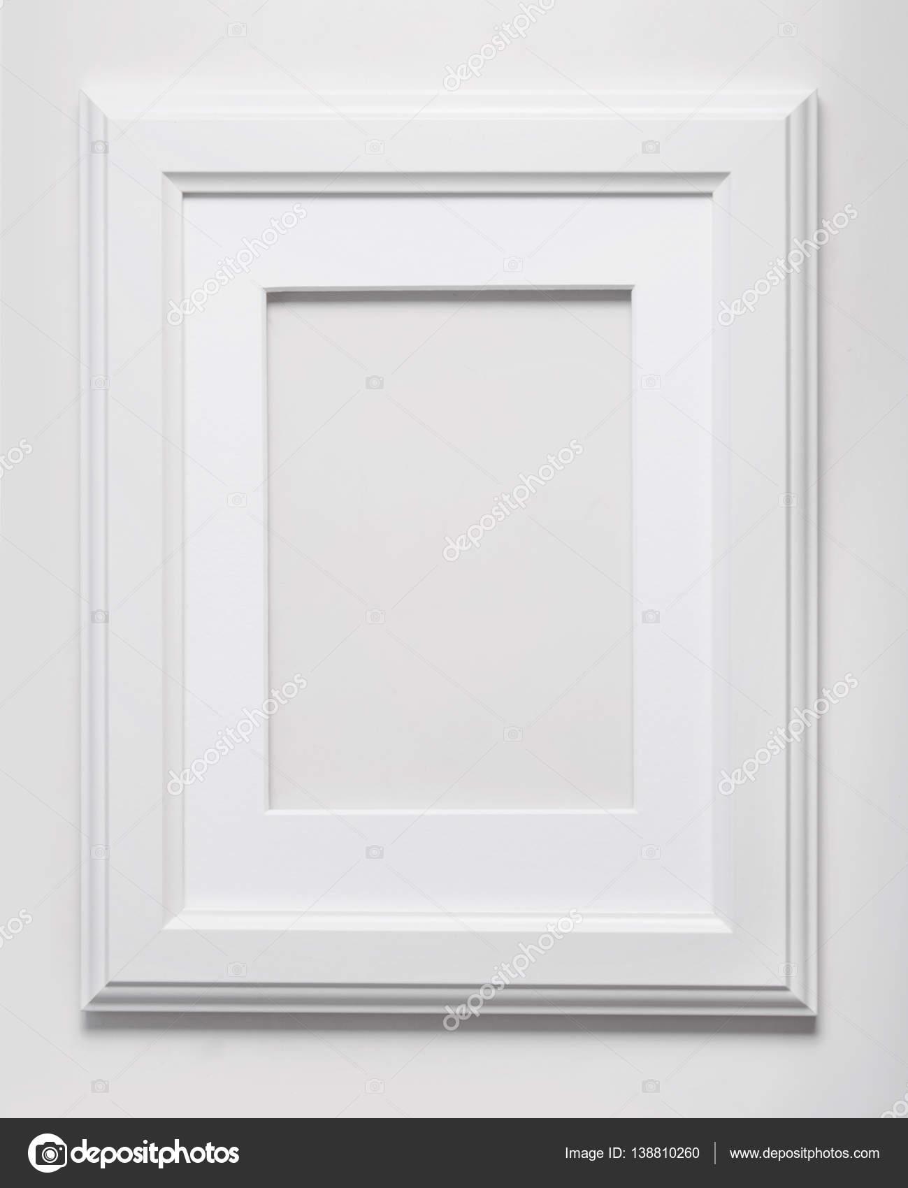 Plantilla de marco de madera blanco — Fotos de Stock © Ukususha ...