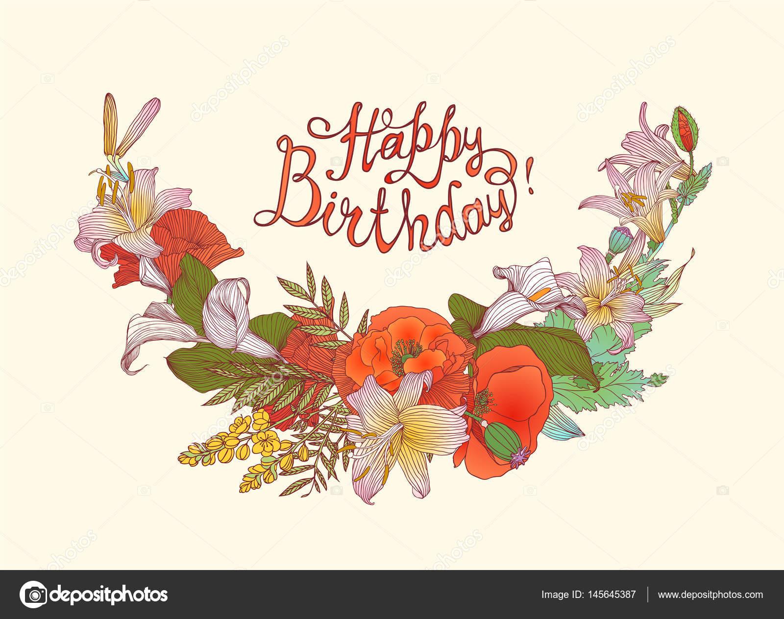 Herzlichen Glückwunsch Zum Geburtstag! Glückwunsch-Karte