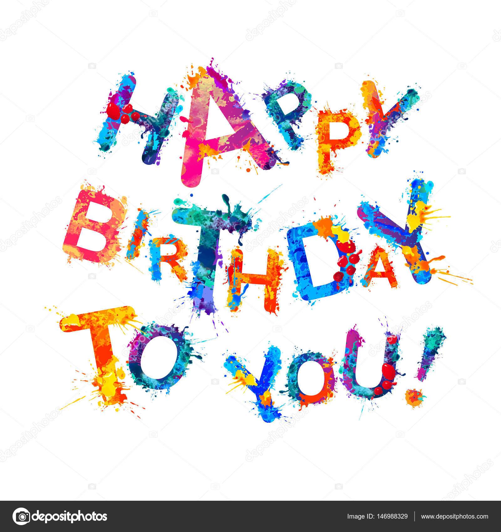 Hartelijk Gefeliciteerd Met Je Verjaardag Stockvector C Ukususha