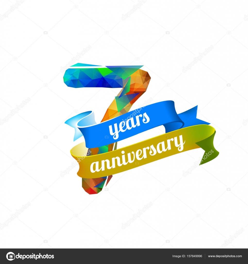 7 (seven) years anniversary. — Stock Vector © Ukususha #157849996