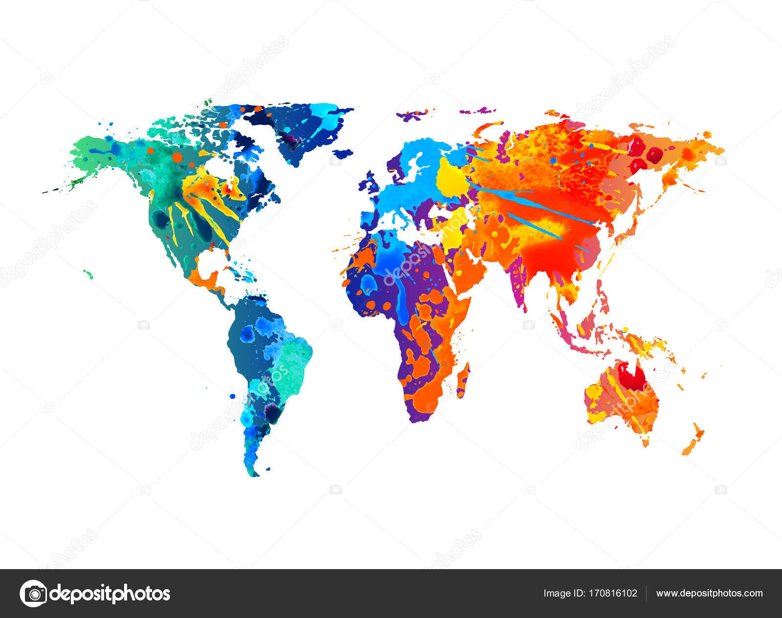 Vector silhouette of world map splash paint stock vector vector silhouette of world map splash paint stock vector gumiabroncs Gallery