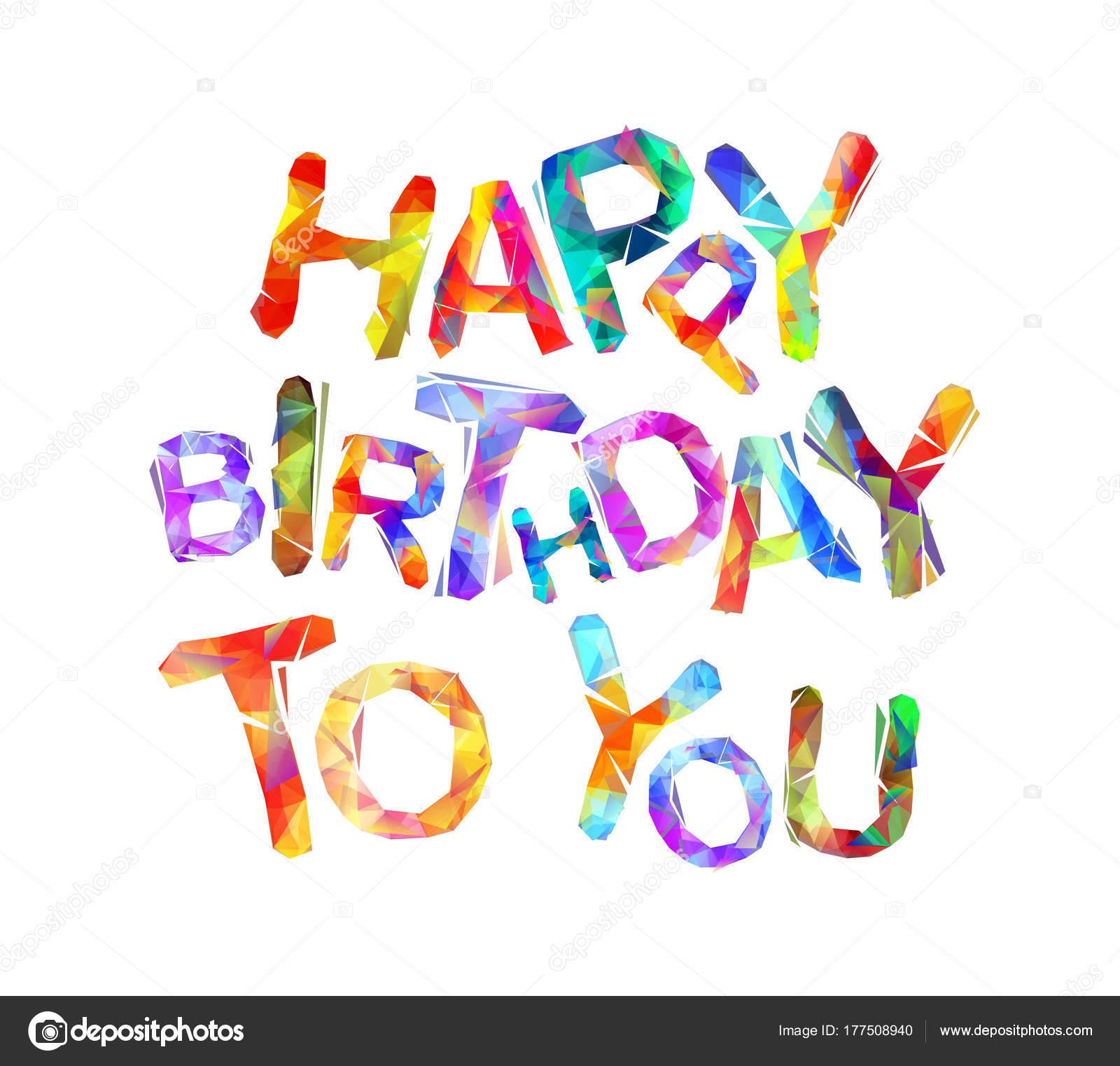 afbeelding hartelijk gefeliciteerd Hartelijk gefeliciteerd met je verjaardag. Vector driehoekige  afbeelding hartelijk gefeliciteerd