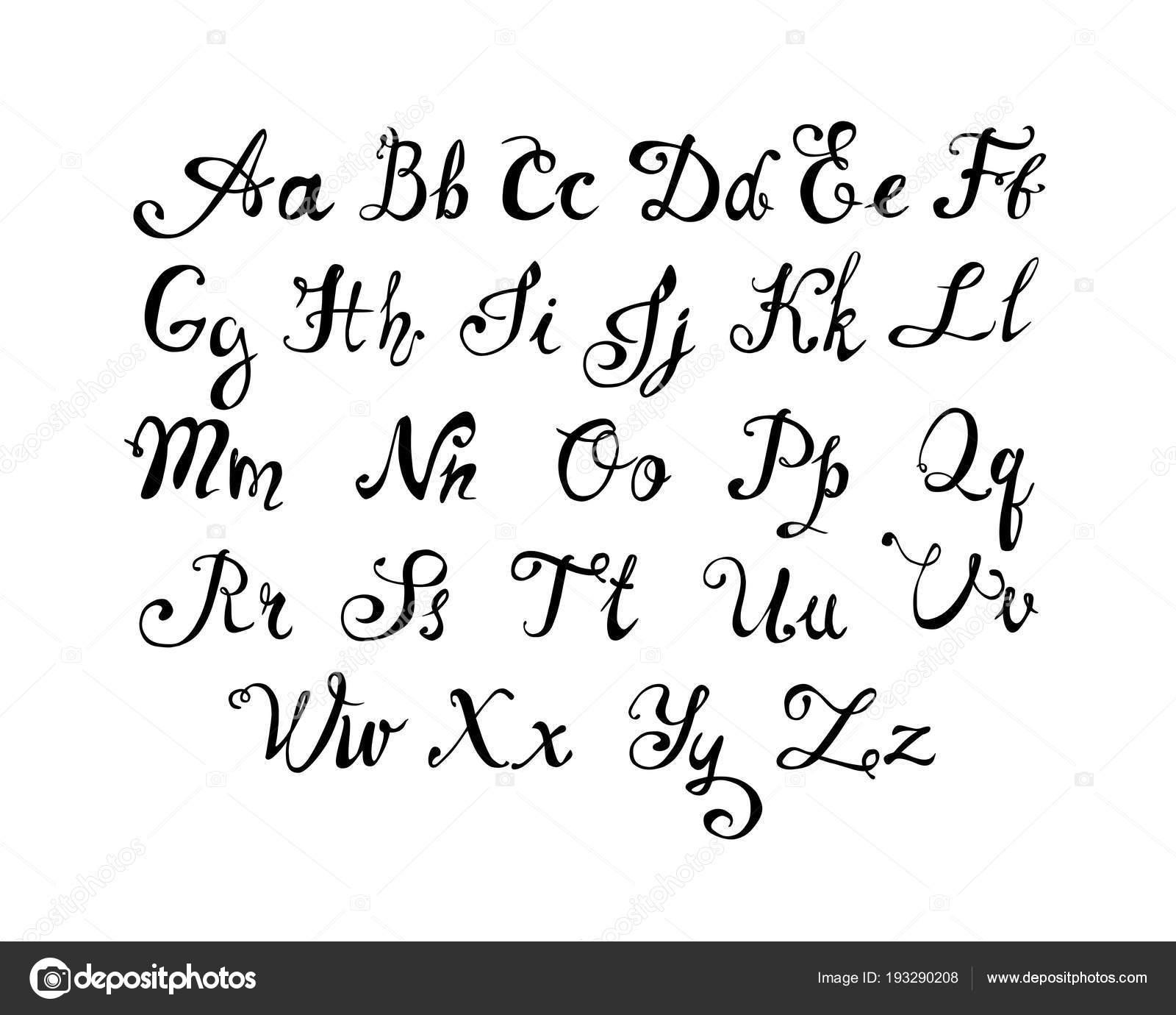 Hand written alphapet  Doodle letters — Stock Vector