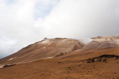 "Картина, постер, плакат, фотообои ""Hverir грязевые бассейны вид, Исландия ориентир. Исландский пейзаж"", артикул 346827494"