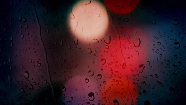 Světla auta v noci déšť Bokeh