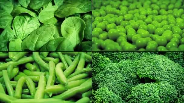 Forgó montázs zöldségek