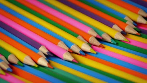 Škola barvy tužek rotující Closeup