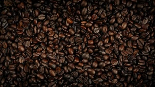 Coffee Beans Rotating Overhead Shot