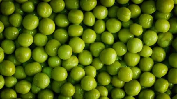 grüne Erbsen Nahaufnahme