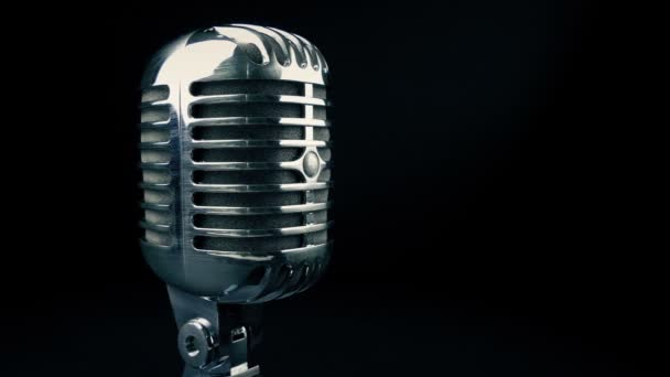 Retro Microphone Tracking Shot