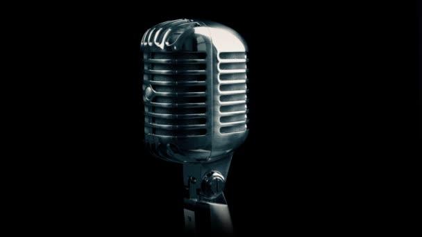 Forgó fekete a Vintage mikrofon