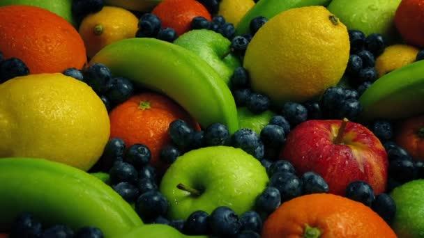 Ovocný mokré hromadu pohybu záběr