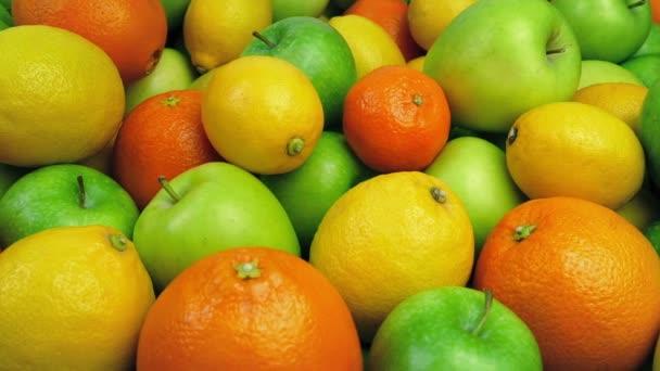 Narancs, alma és citrom-halom