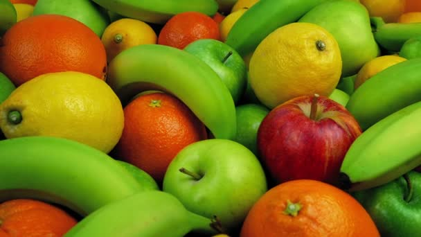 Friss gyümölcs tál mozgó szemcsésedik