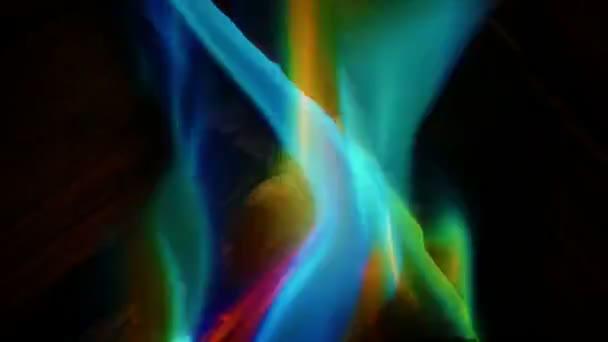 Color mystického oheň hořící Closeup