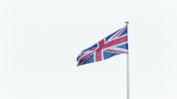 Union Jack Flag Blowing Around