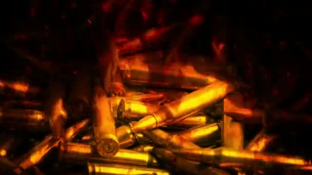 Pile Of Bullets In Flames Abstract