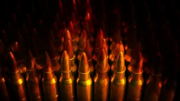 Passing Stack Of Bullets In Flames Abstract