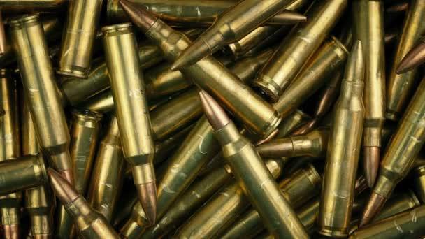 Militärische Kugeln rotieren Makroschuss