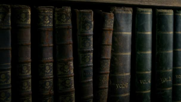 Passing Row Of Antique Vintage Books
