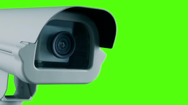Nahrávání detailu fotoaparátu Cctv na zelené obrazovce