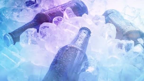 Pivo v chlazeném kouři a světlech v nočním klubu