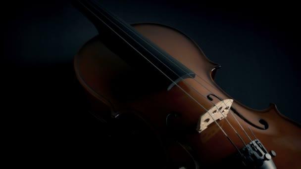 Violin Body Closeup Moody mozgó lövés