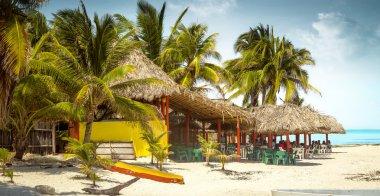 Tropical bar on a beach on Cozumel island, Mexico
