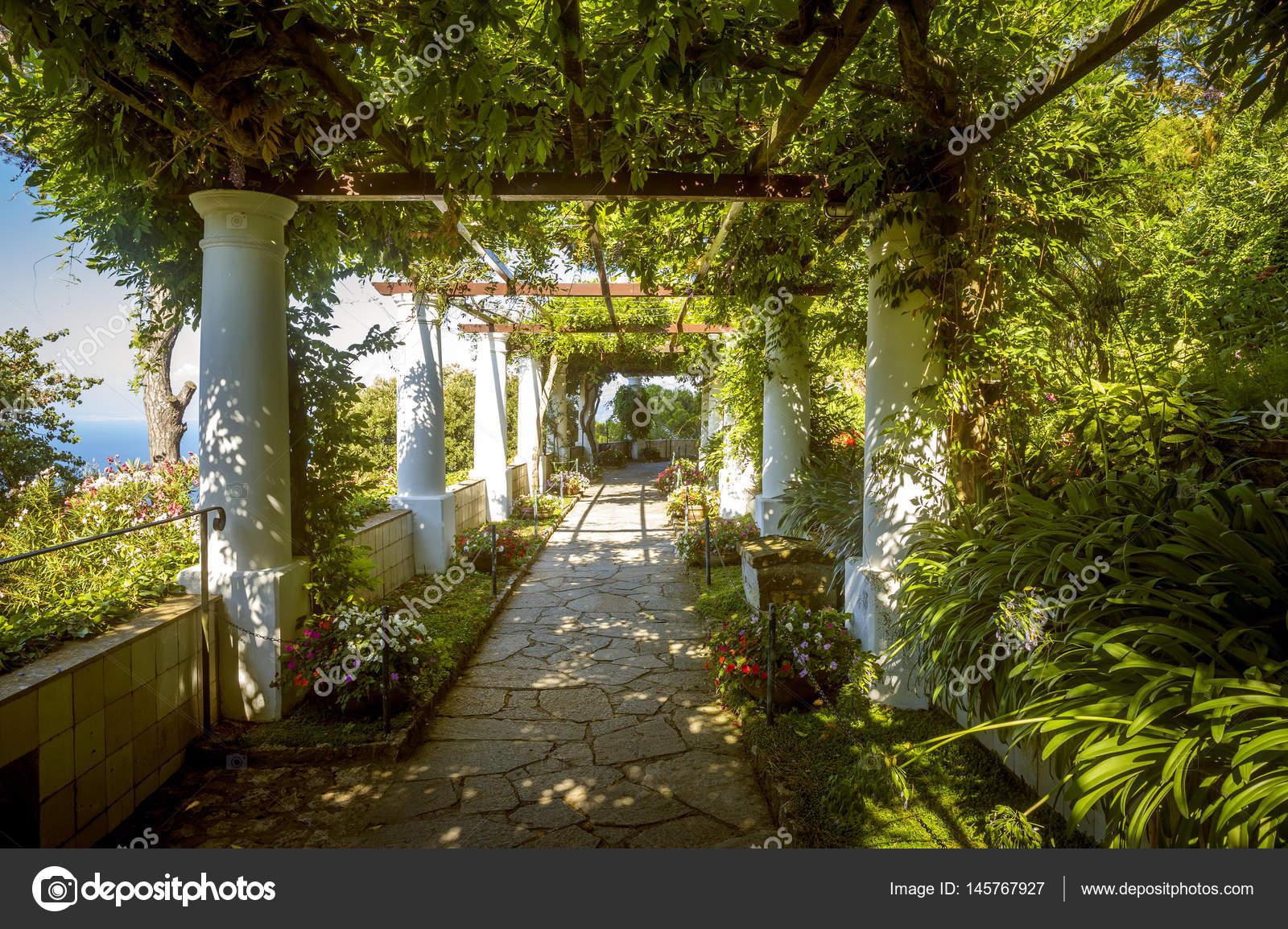 The Gardens Of Villa San Michele Capri Island Italy