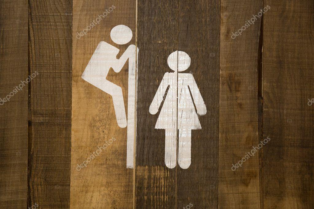 Lustige Wc Toilette Symbole Mann Schau Dir Frau In Der Toilette