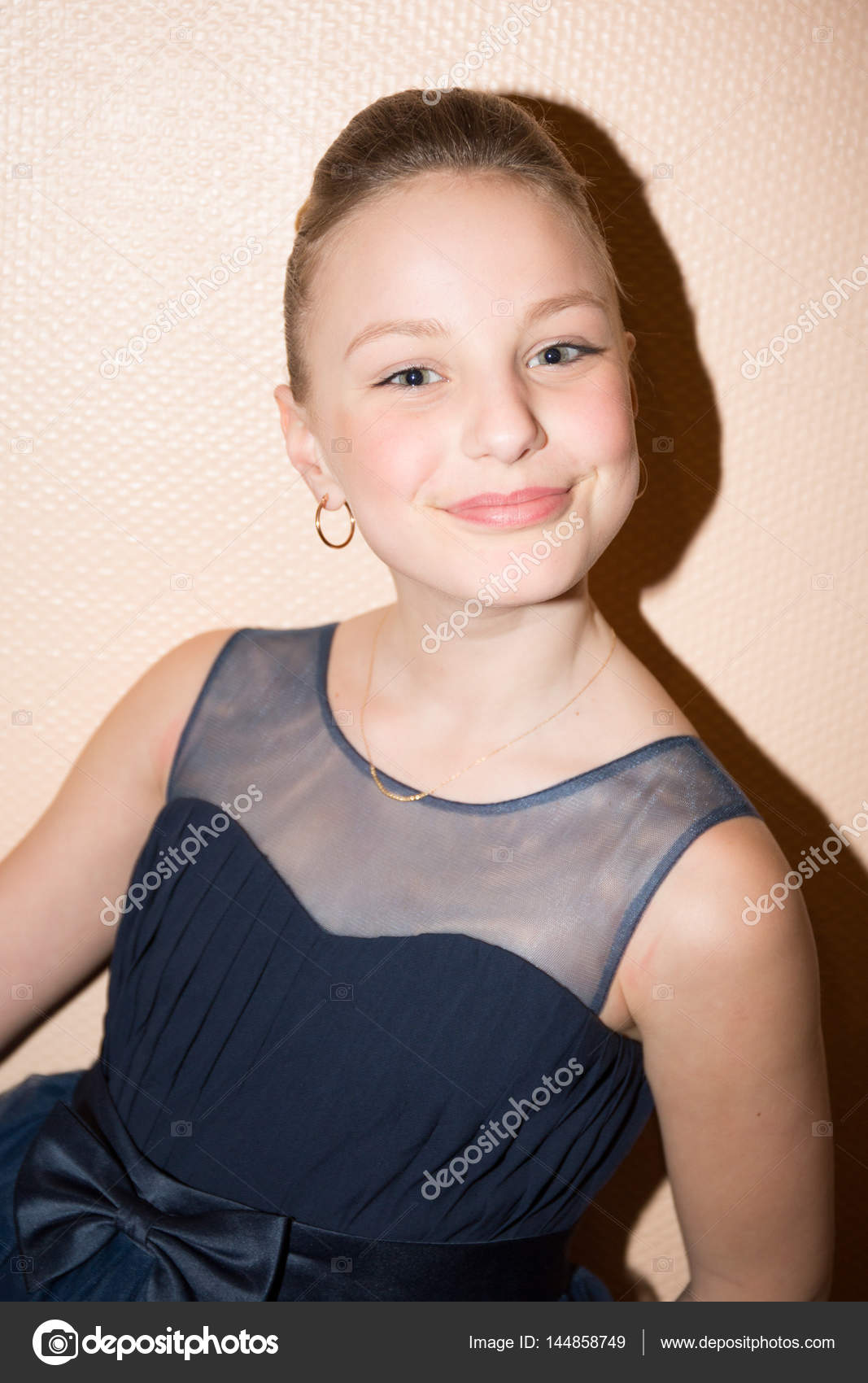 Teenage Girl With Hair Pulled Back And Blonde Stock Photo Image By C Oceanprod 144858749