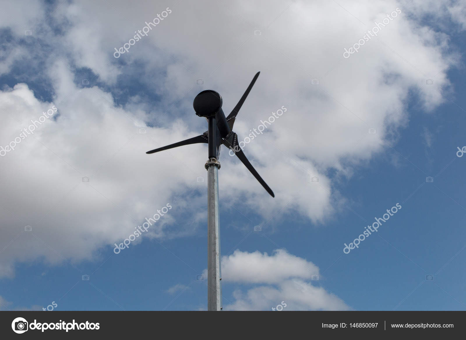 Good Small Wind Turbine In The Garden Of An Individual House U2014 Stock Photo