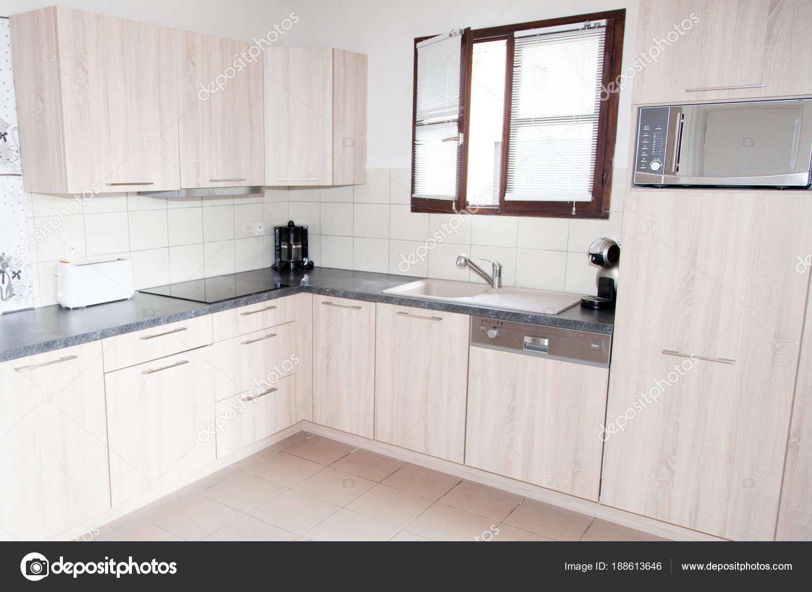 Intérieur Maison Scandinave Blanche Cuisine Chambre — Photographie ...