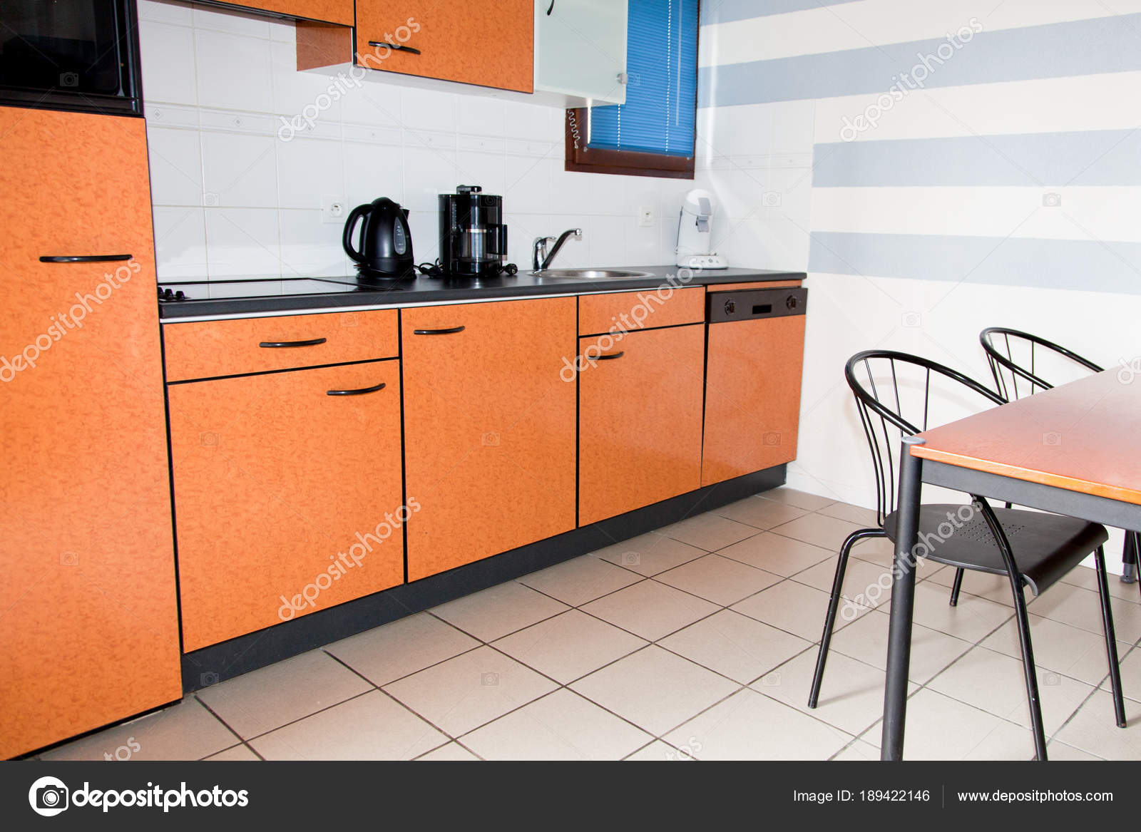 Real Vintage Style Kitchen Appliances Beautiful Interior Stock Photo Image By C Oceanprod 189422146