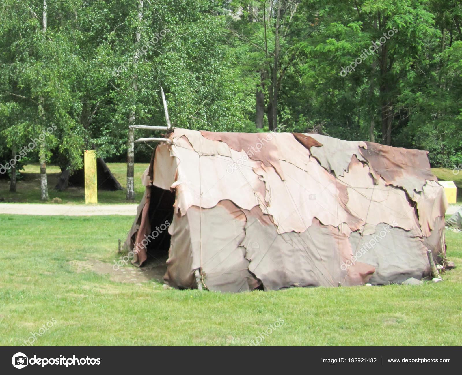 American Military Tent Historical Reenacting Ww2 — Stock
