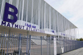 Bordeaux, Aquitaine / Francie - 10 25 2019: Matmut Vstup na atlantický stadion v Bordeaux