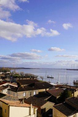 Bourg sur Gironde french village riverside in garonne dordogne river gironde France