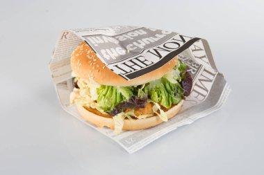 Bordeaux , Aquitaine / France - 04 15 2020 : hamburger food truck made burgers in paper kraft
