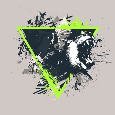 Grunge styled T-shirt print