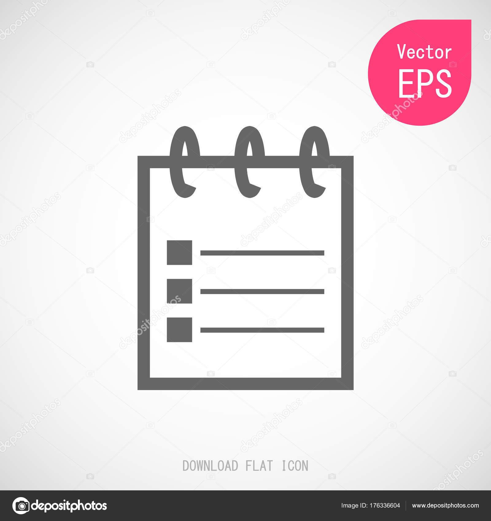 Diseño Icono Nota Para Hacer Lista Documento Plano Vector ...