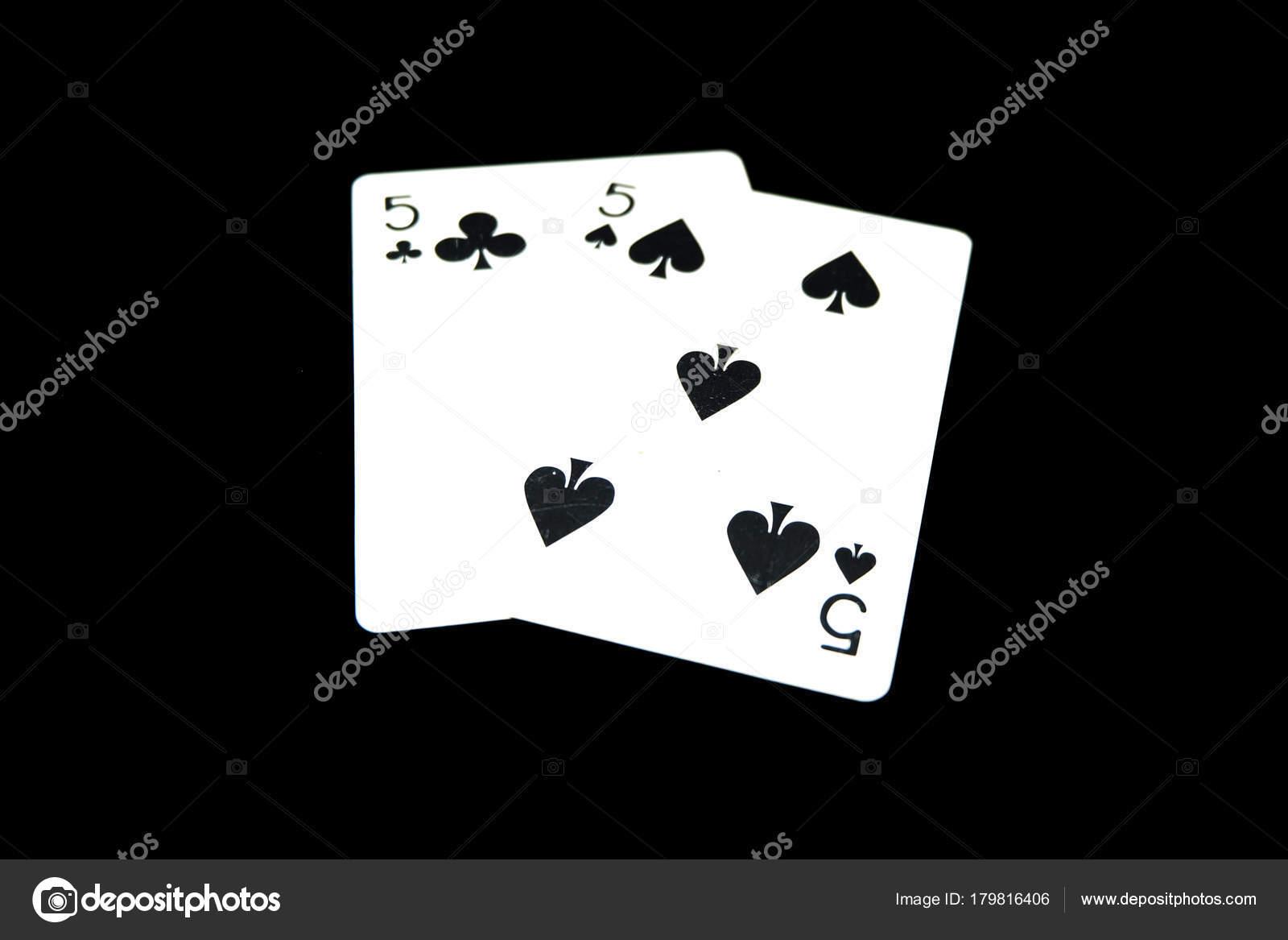 Dos Espadas Jugar Tarjeta Juegos Cartas Aislado Negro Fondo Grandes