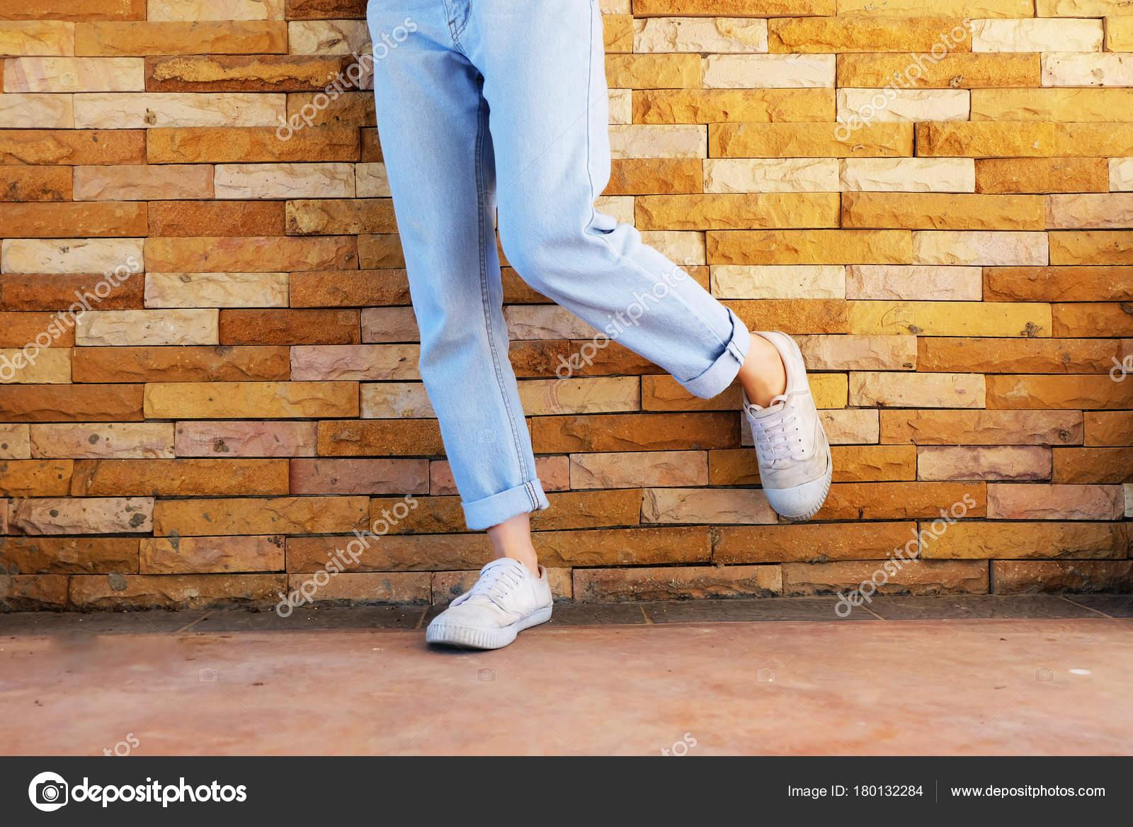 Usa Zapatillas Zapatos Viejos Blancas Blancos Pantalones Mujer WDI2YE9H