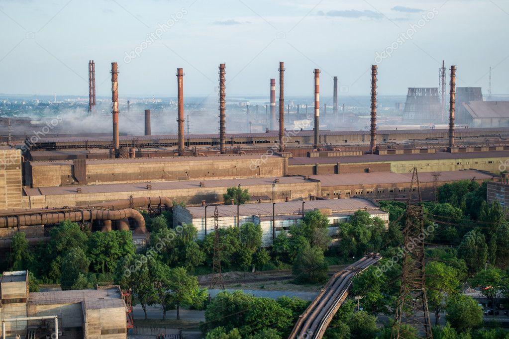冶金の植物高さ、ザポリージャ、...