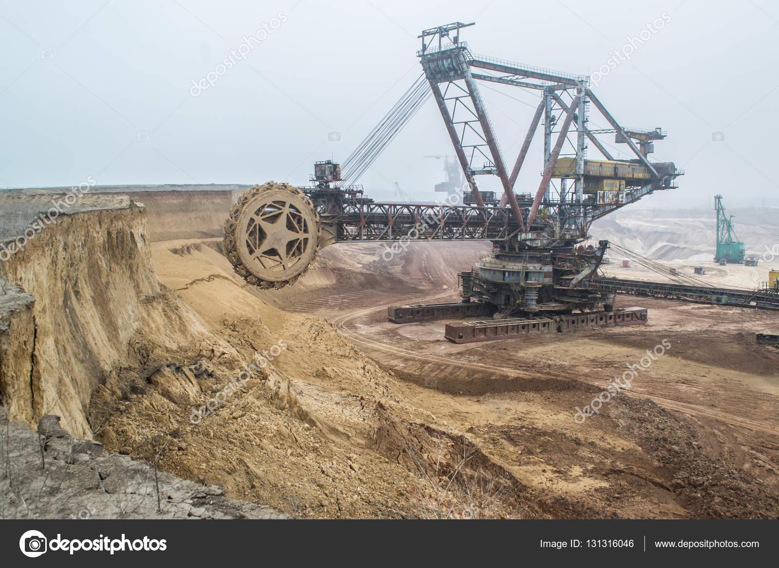 Biggest Excavator In The World Working Bagger 228 Ukraine Big Mine Develop Mineral Resources Excavator Digs Metallurgy In Ukraine Stock Photo C Mysokol 131316046