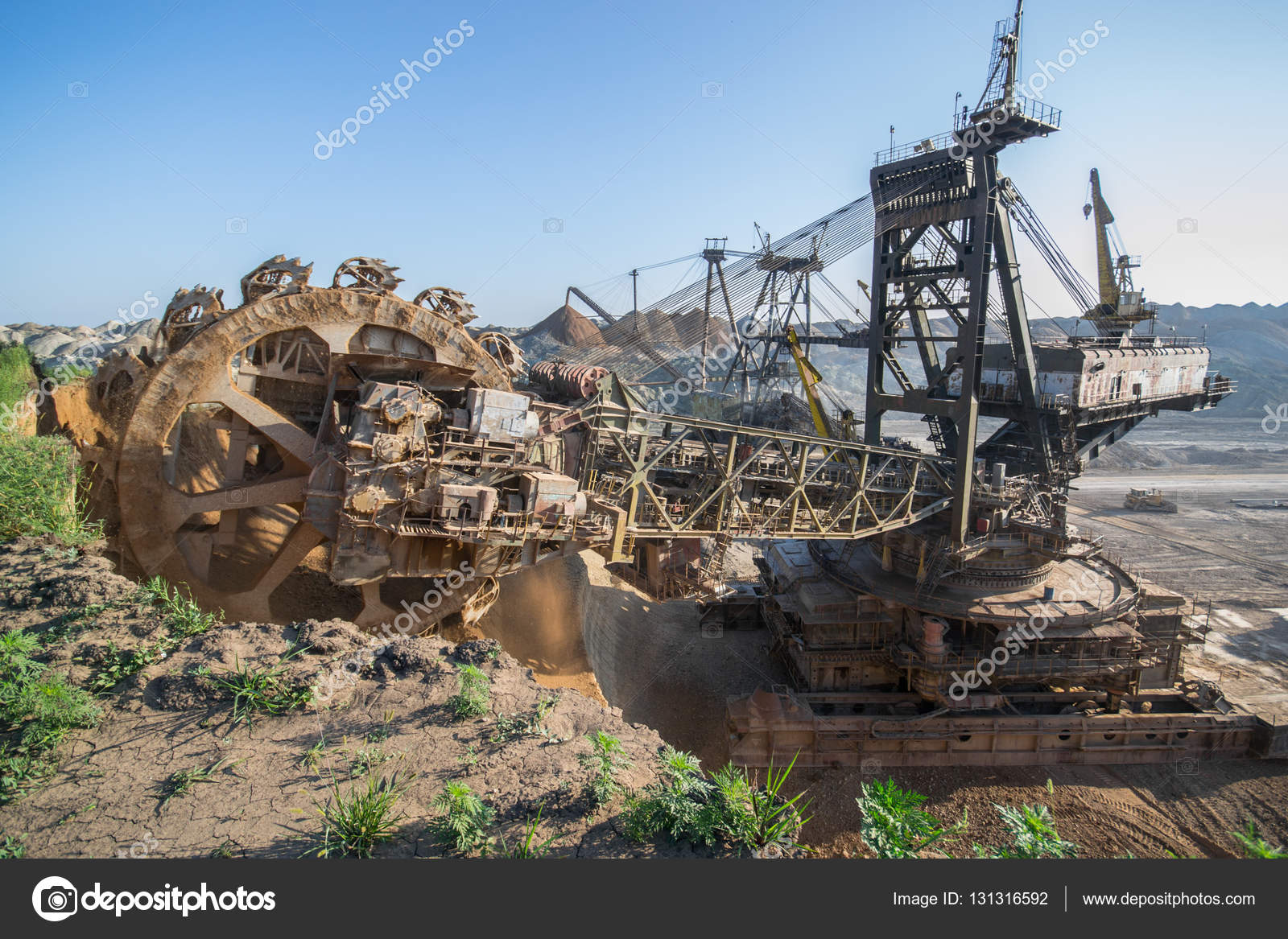 Biggest Excavator In The World Working Bagger 228 Ukraine Big Mine Develop Mineral Resources Excavator Digs Metallurgy In Ukraine Stock Photo C Mysokol 131316592