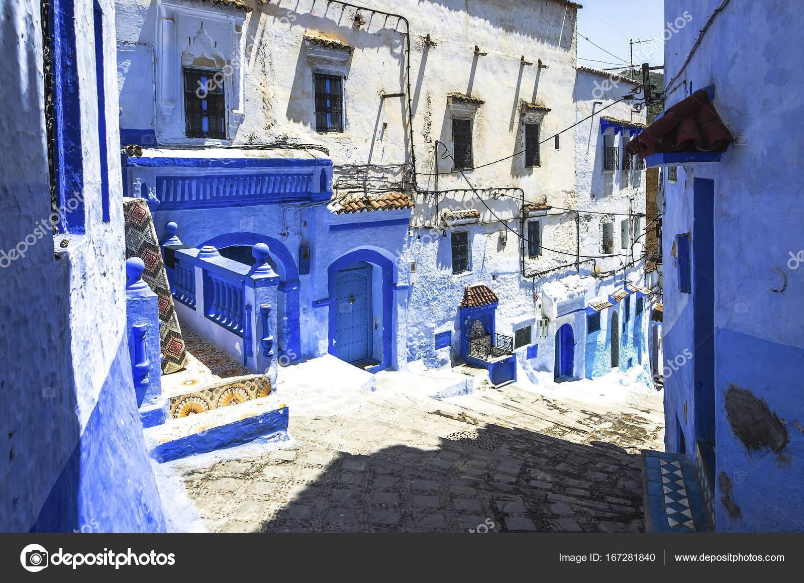 Case Blu Marocco : Medina di chefchaouen in marocco. chefchaouen o chaouen è noto che